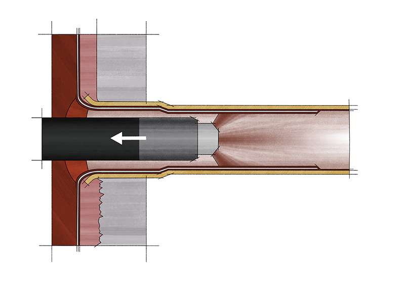 Tube Lining Inlet Cladding