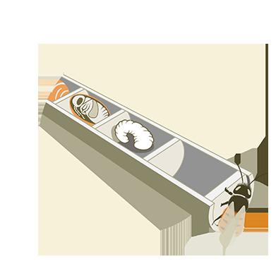 Kokons in Niströhrchen
